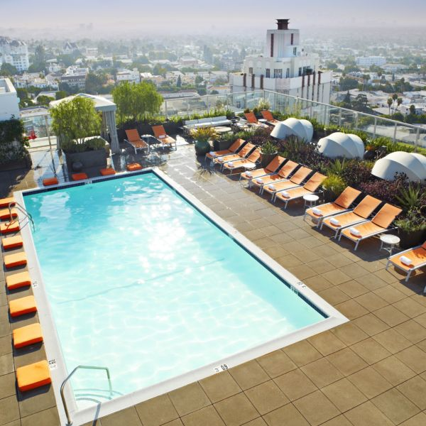 15 of West Hollywood's Hottest Hotel Pools